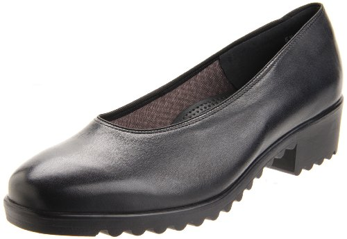ARA womens Miley loafers shoes, Black Leather, 6 US