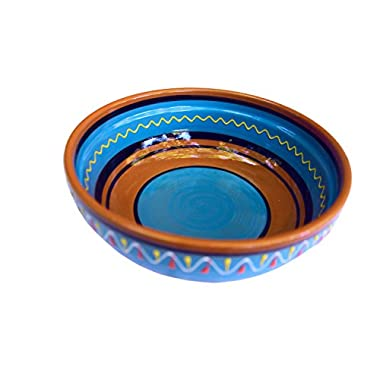 Terracotta Blue, Deep Dish - Hand Painted From Spain