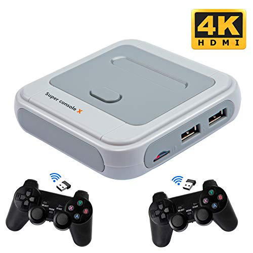 Kinhank Super Console X Video Game Console Built in 41,000+ Games,with 2 Gamepads,Game Consoles for 4K TV Support HDMI/AV Output, Support 5...