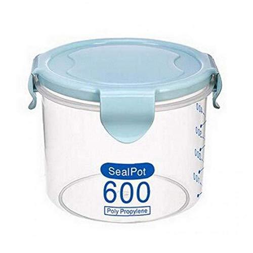 TOSSPER Botellas 1pc 600ml Borrar Almacenamiento PP Plástico Tarro De Gran Capacidad con Tapa Cocina Contenedor De Almacenamiento De Miel
