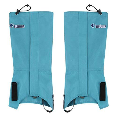 1 Pair Bluefiled Waterproof Outdoor Hiking Climbing Hunting Snow Legging Gaiters Sky blue M