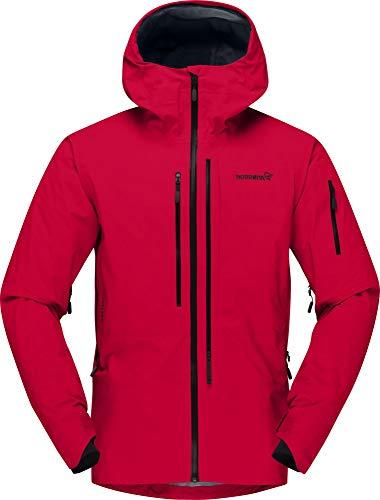 Norrona M Lofoten Gore-Tex Pro Jacket Rot, Herren Gore-Tex Windbreaker, Größe L - Farbe True Red
