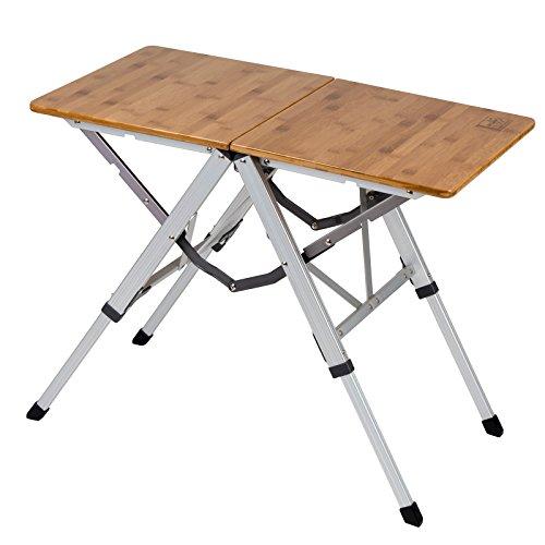 Bo-Camp Urban Outdoor 1404660 Campingtisch Richmond Klapptisch Garten Tisch Falttisch Klappbar Alu Bambus