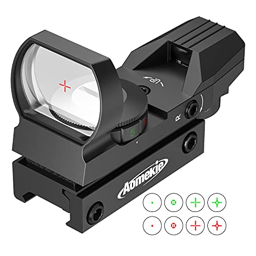 AOMEKIE Red Dot Sight Air Rifle Scope Tactical 4 Reticles Green & Red with...