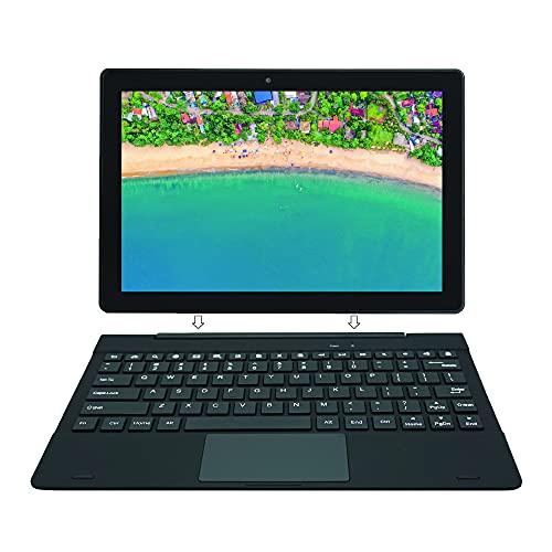 [3 Bonus Articoli] Simbans TangoTab 10 Pollici Tablet e Tastiera, 2 in 1 Android 10 Mini Laptop, 4 GB RAM, 64 GB, Mini-HDMI, USB, GPS, Dual WiFi, Bluetooth Computer PC - 2021 Modello - TLX2