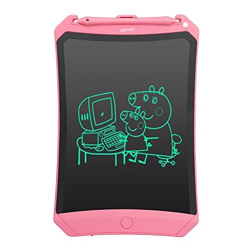 HOMESTEC Tableta DE 8.5 Pulgadas Robot- de Escritura Tablero de LCD de Dibujo Regalos para niños Oficina Escritura de Pizarra (Escritura más Brillante) (Rosado)
