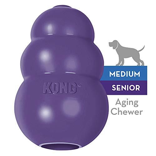 KONG - Senior - Juguete de caucho suave - Para morder, perseguir o buscar - Raza mediana