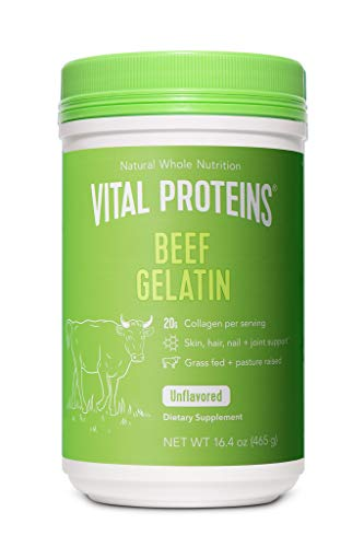 Vital Proteins Beef Gelatin : Pasture-Raised, Grass-Fed, Non-GMO (16.4 oz) - Gluten free, Dairy free, Sugar free, Whole30 Approved, and Paleo friendly