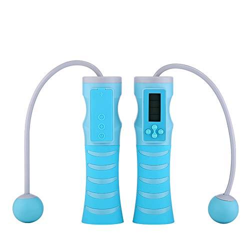 RGLZY electrónicos saltan de Forma inalámbrica el Altavoz Bluetooth Gimnasio Deportivo Saltando la Cuerda Altavoz Bluetooth SOGA de Saltar para niños para la Oficina, Sala de Salud, Exterior,Azul