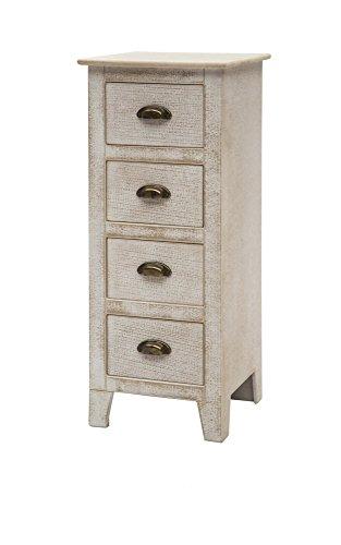 Commode meuble 4 tiroirs ameublement maison en bois shabby chic