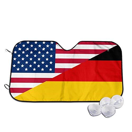 Tridge Bandiera Degli Stati Uniti e Della Germania Parabrezza e parasole laterali per Auto (Berlina SUV Van) - S