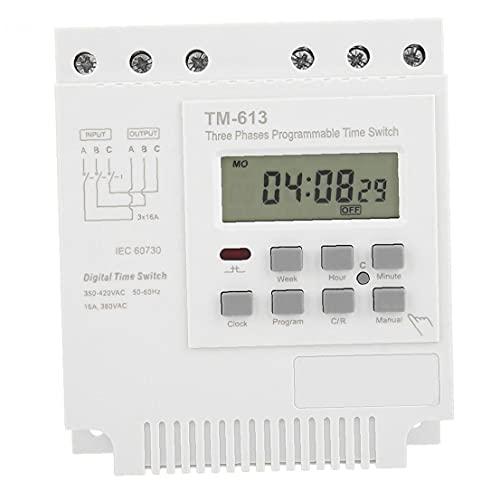 Interruptor temporizador digital programable semanal trifásico de 380v Tm-613 en el controlador de apagado