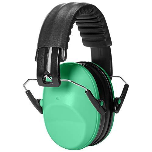 AmazonBasics Kids Ear Protection Safety Noise Earmuffs, Green