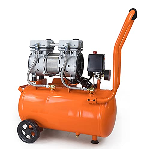 WUK 24/30L Portable Air Pump 750/1100/1500W Oil Free Silent Air Compressor (65 dB) for Home Repair, Tire Inflating Spray Paint Pneumatic Tools 220V