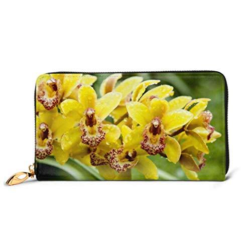 ZhangYu Mode Handtasche Reißverschluss Brieftasche Wild Orchids Garden Telefon Clutch Geldbörse Abendkupplung Blocking Leder Brieftasche Multi Card Organizer