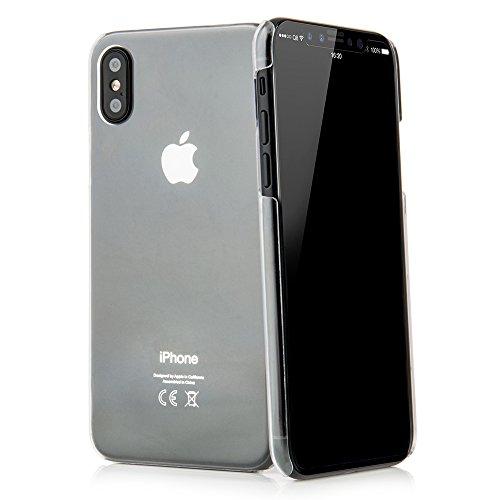 QUADOCTA Premium - Custodia per iPhone X XS (5,8'), ultra sottile, trasparente, ultra sottile, compatibile con Apple iPhone 10