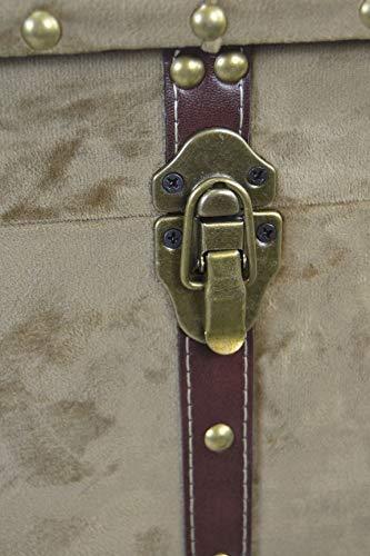 Livitat® Hocker Polsterhocker Suitcase Pouf Truhe Staufach Truhenbank Sitzbank Ottomane B90 x T40 x H47 cm LV2079 (Braun) - 5