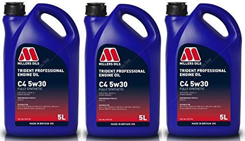 Millers Oil Trident 5W30 C4 Aceite de motor totalmente sintético, 15 litros