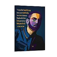 エミネムポスターアートデコレーションペインティングリビングルームウォールアートピクチャーキャンバスプリントペインティング24×36inch(60×90cm)