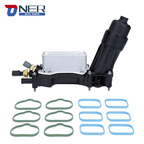 ONER Engine Oil Cooler and Oil Filter Housing Adapter Assembly,Fit for 2014-2017 Chrysler 200/300 Dodge Jeep Ram 3.6L V6 Engine,Replaces# 68105583AA, 68105583AC, 68105583AD, 68105583A,68105583AF