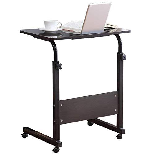 DGDG Mesa de sobrecama ajustable, Mesita de noche médica Hospital Bandeja de alimentos Rolling Laptop Desk para cama Sofá Lectura Hospital