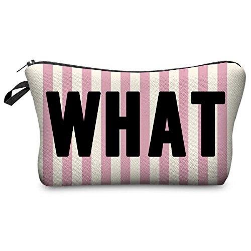 Astuccio Matita caso Portapenne Beauty case Pennarelli ed Accessori Scuola Borsetta per cosmetici Whatever Pink Stripe [009]