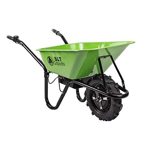 SLT Gdpodts Electric Wheelbarrow Green Super Duty Electric Utility...