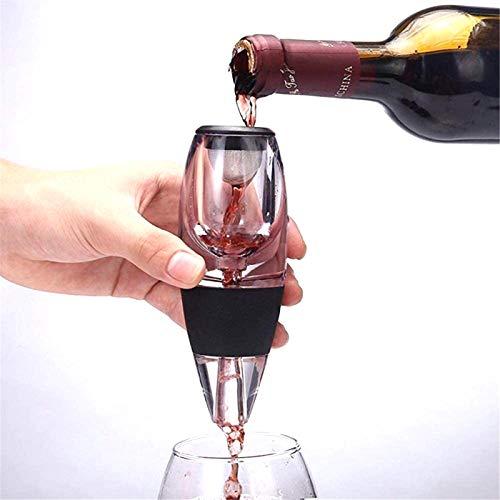 Aeroador de vino eléctrico Pourer Decantador Vino Rojo Aeroador Vino Rojo Decantador Aeroador con base para regalo de Navidad Regalo de vino Uso y fiesta black-34.5 * 25 * 9cm