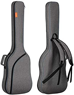 CAHAYA Electric Bass Guitar Bag Gig Bag Backpack Padded Soft Case 0.3inch Padding, Grey