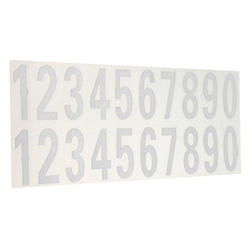 Alamor Aantal Reflecterende Sticker Auto Vinyl Decal Straat Adres Mail Doos Aantal Stickers Wit Zwart