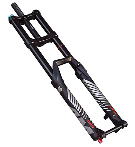 Horquilla de suspensión Ultraligera DH Bike Suspension Fork 27.5 29 pulgadas Bicicleta Tenedor MTB Thru Eje 15mm Downhill Fork Ambast Shock Absorber 170mm Travel Oil Alojamiento Accesorios para bicicl