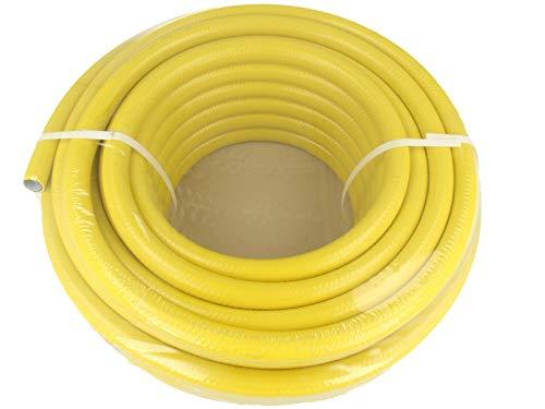 SUNTOS Qualitäts-Wasserschlauch Gartenschlauch 1/2 Zoll x 30 m Länge, gelb
