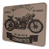 マウスパッド オートバイバイクガレージ, 疲労低減マウスパッド 耐久性が良い 滑り止めゴム底 滑りやすい表面 マウス用パット