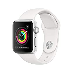 Apple iWatch in white.