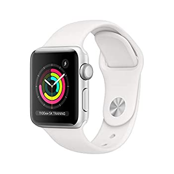 AppleWatch Series3  GPS 38mm  - Silver Aluminum Case with White Sport Band