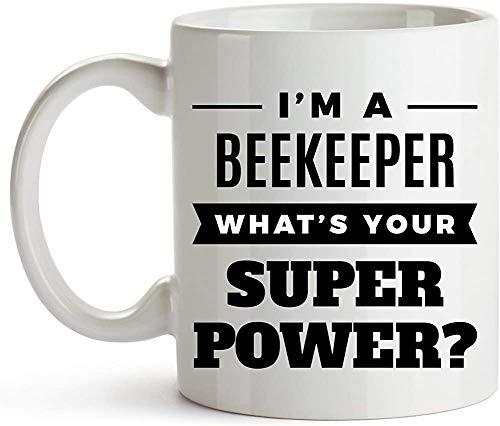 Porseleinen mok Ik ben een imker. Wat is Super Power? Honing boeren Apiaristen Apiculturisten Grappige imker geweldig cadeau voor een verjaardag of kerst keramische imkers imker mok koffie