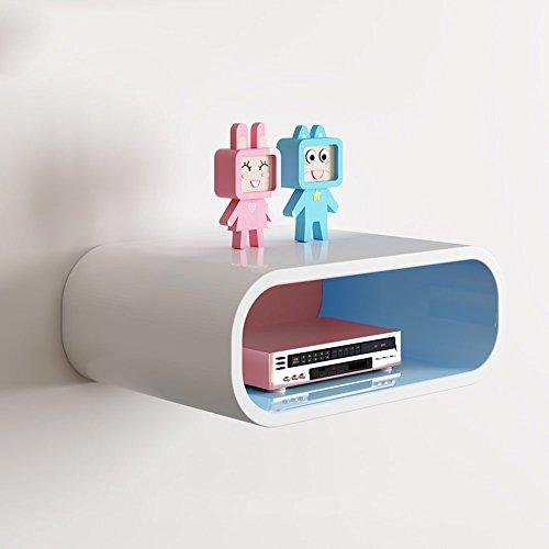 Shelf ZHANGRONG- Regal Fernseher An der Wand Trennregale Router Aufbewahrungsbox 40 cm * 28 cm * 15 cm (Farbe : Inside Blue)