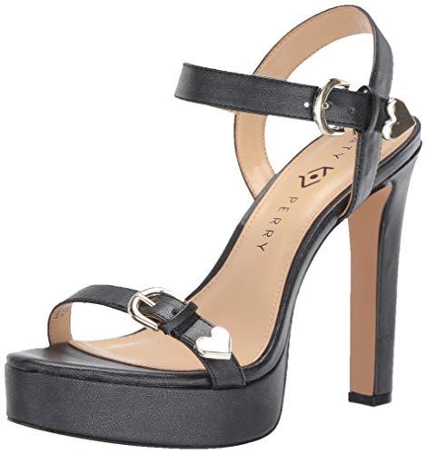 Katy Perry Women's The Noelle-Metallic Shine Heeled Sandal, black, 10 M Medium US