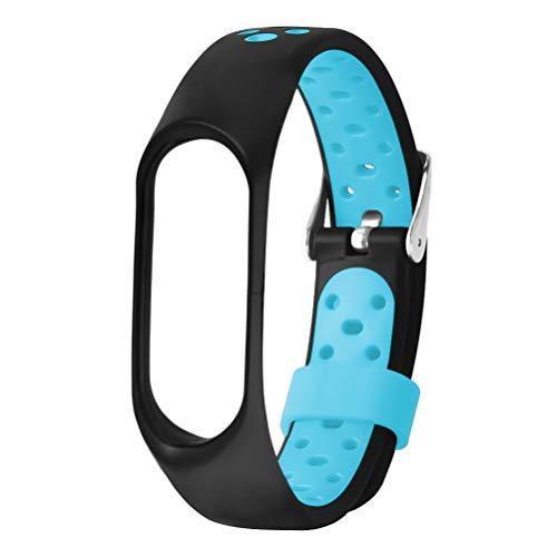 Misswongg horlogeband, zachte silicone, compatibel met Xiaomi Mi Band 3, MWBD040