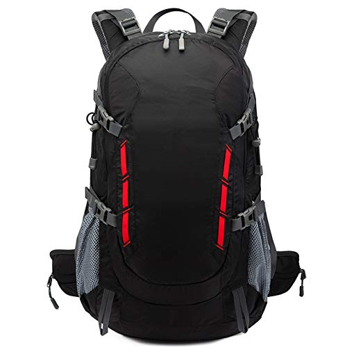M STAR Outdoor Leisure School Bag Sports Travel Nylon Mountaineering Bag Waterproof Black Backpack