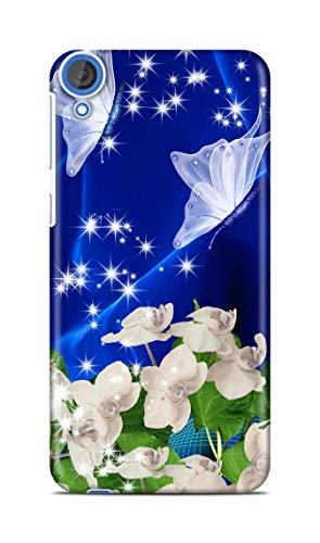 Shengshou Mobile Back Cover for HTC Desire 820 Design Star Flower Butterfly ABC256T31771
