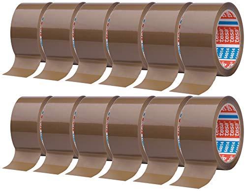 Klebeband braun - leise abrollend - 50 mm breit - 66 m lang - 12 Stück
