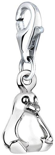 Nenalina Charm Pinguin Anhänger in 925 Sterling Silber für alle gängigen Charmträger 713103-000
