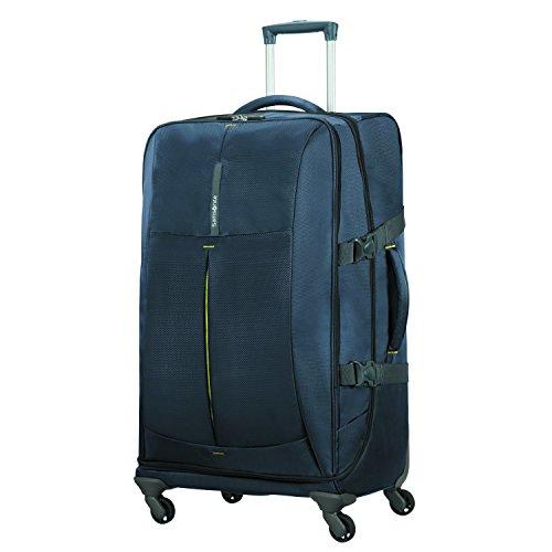 SAMSONITE 4mation - Spinner Duffle Bag 77/28 reistas, 77 cm, 99 L, Midnight Blue/Yellow