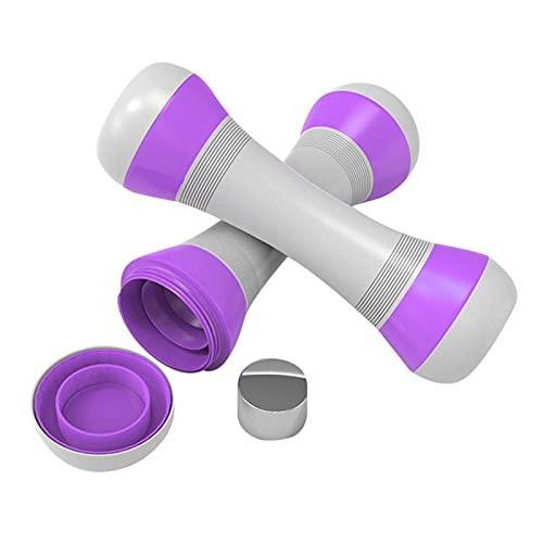 Henreal Juego de 2 mancuernas ajustables de 1/2 unidades, para hombres y mujeres, ejercicio y fitness, mano de goma antideslizante, para uso general, hogar, gimnasio, oficina, entrenamiento interior