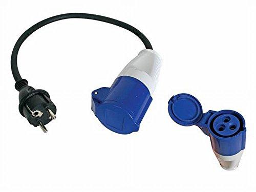 PEREL - ECEEA1 kabel adapter met Schuko-stekker naar bus CEE 40 cm 162432