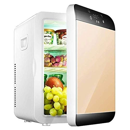 JGWJJ Mini refrigerador Mini refrigerador congelado Mini refrigerador de Medicina doméstica Pequeño Uso Individual (Color : Gold)