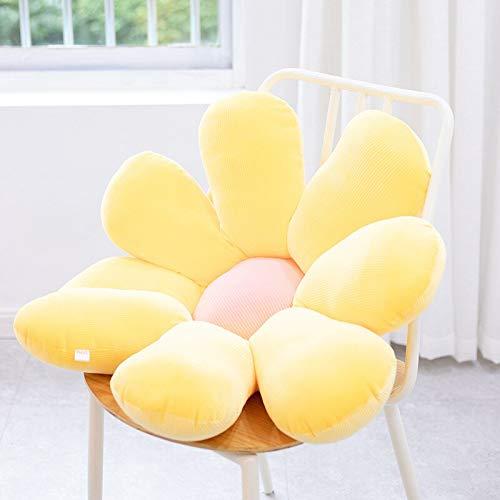 ASDFF Daisy Sunflower Plush Toy Stuffed Flower Doll Seat Cushion Mat Plush Pillow Home Bedroom Car Decor Girl Gift 50cm yellow