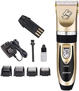 WTYD Pet Supplies P2 110-240V Ceramics Titanium Professional Pet Electric Scissors Pets Hair Clippers with Four Combs