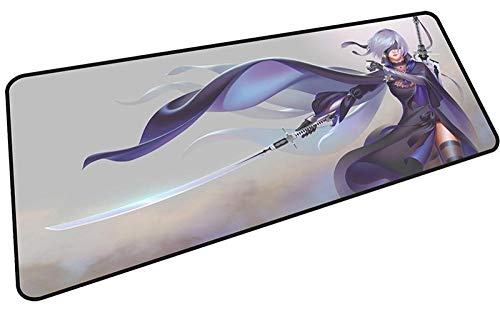 Atvvsovs - Extra Large Gaming Mouse Mat Cool Anime Girl Oversize Mouse Pad - Desk Pad Extended – Mice Mat Pad For Precision And Speed - Non-Slip Rubber Base – For Mouse And Keyboard